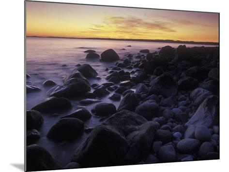 Norway, Telemark, the North Sea, Skagerag, Mšlen, Beach with Glacial Pebbles after Sunset-Andreas Keil-Mounted Photographic Print