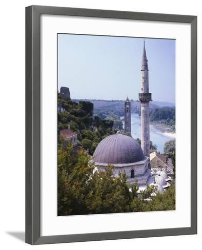 Bosnia, Pocitelj, Neretva, Mosque-Thonig-Framed Art Print
