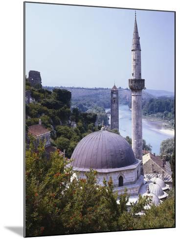 Bosnia, Pocitelj, Neretva, Mosque-Thonig-Mounted Photographic Print