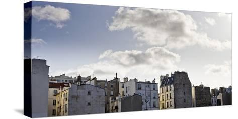 France, Paris, Skyline, 19th Area-Dietmar Walser-Stretched Canvas Print
