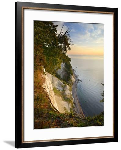 Chalk Rocks in the Morning Light, National Park Jasmund, Mecklenburg-West Pomerania-Andreas Vitting-Framed Art Print