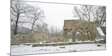 Germany, Saxony-Anhalt, Saale-Holzland-Kreis, Camburg, Ruin of the Cyriaks Church in Winter-Andreas Vitting-Mounted Photographic Print