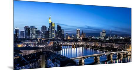 Frankfurt, Hesse, Germany, Frankfurt Skyline Financial District at Dusk-Bernd Wittelsbach-Mounted Photographic Print