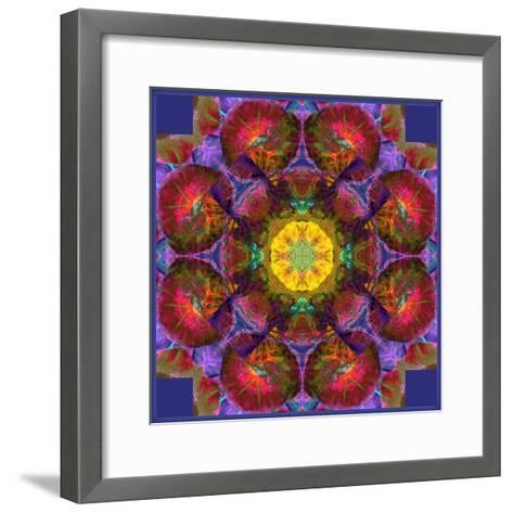 Symmetric Multicolor Layer Work of Blossoms-Alaya Gadeh-Framed Art Print