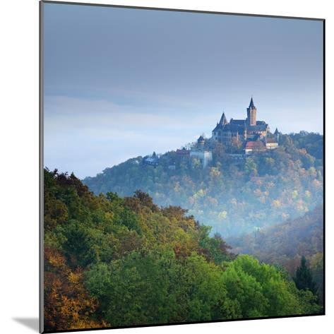 Lock Wernigerode in the First Morning Light, Behind Morning Fog, Saxony-Anhalt-Andreas Vitting-Mounted Photographic Print