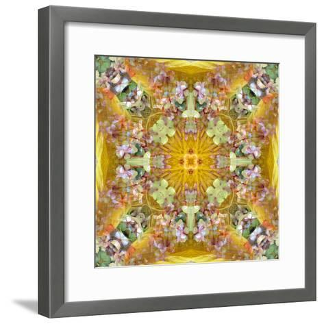 A Floral Montage with Leafes-Alaya Gadeh-Framed Art Print