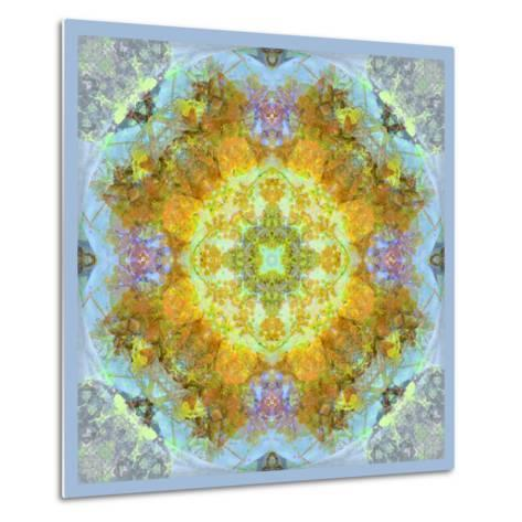 Symmetrical Ornaments, Mandala, Colourful-Alaya Gadeh-Metal Print