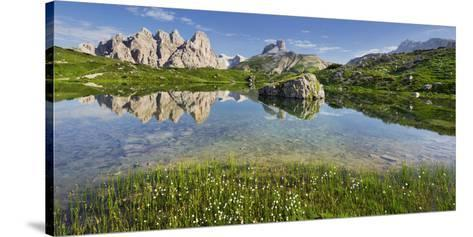 Rautkofel, Schwalbenkofel, Langalm, South Tyrol, the Dolomites Mountains, Italy-Rainer Mirau-Stretched Canvas Print