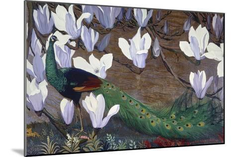 Peacock and Magnolia-Jesse Arms Botke-Mounted Art Print