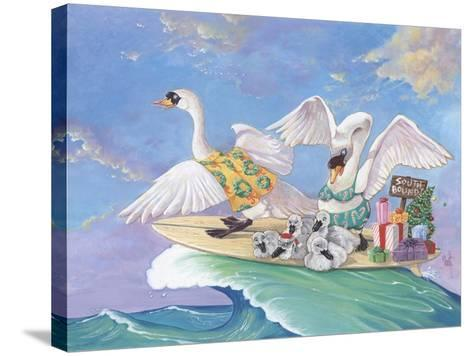 Swans a Swimming-Scott Westmoreland-Stretched Canvas Print