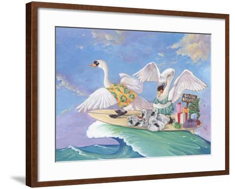 Swans a Swimming-Scott Westmoreland-Framed Art Print