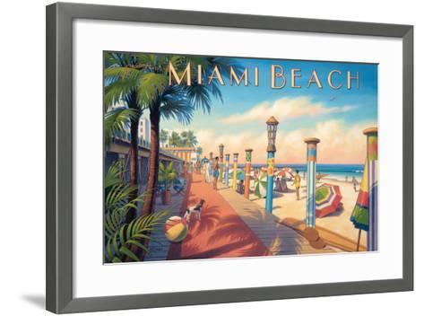 Greetings from Miami Beach-Kerne Erickson-Framed Art Print