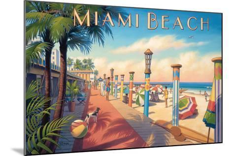 Greetings from Miami Beach-Kerne Erickson-Mounted Art Print