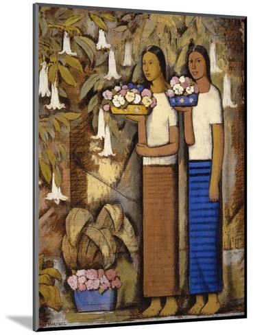 Flower Vendors-Alfredo Ramos Martinez-Mounted Art Print