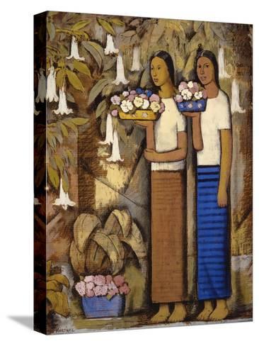 Flower Vendors-Alfredo Ramos Martinez-Stretched Canvas Print