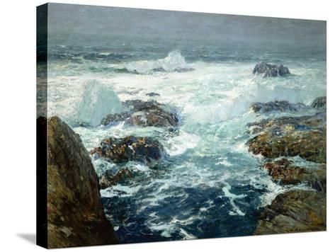 Sunlit Breakers-William Ritschel-Stretched Canvas Print