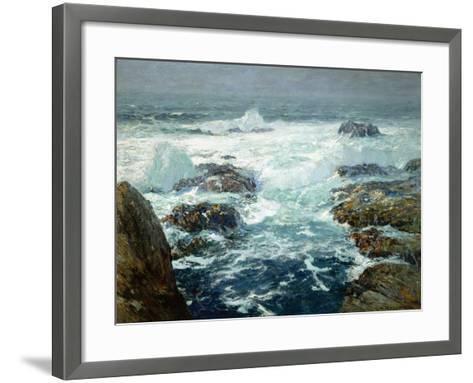 Sunlit Breakers-William Ritschel-Framed Art Print