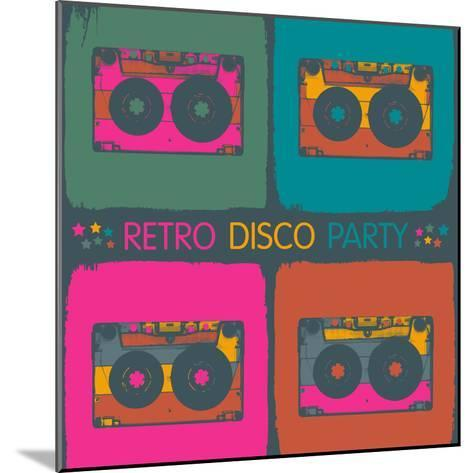 Retro Disco Party Invitation in Pop-Art Style. Raster Version, Vector File Available in Portfolio.-pashabo-Mounted Photographic Print