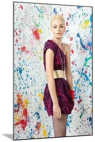 Young Woman in Leopard Print Dress-Image Source-Mounted Photographic Print