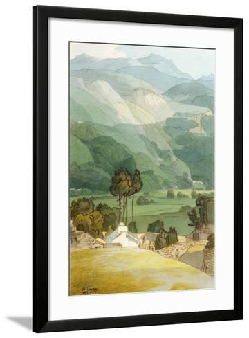 Ambleside, 1786 (W/C with Pen and Ink over Graphite on Laid Paper)-Francis Towne-Framed Art Print