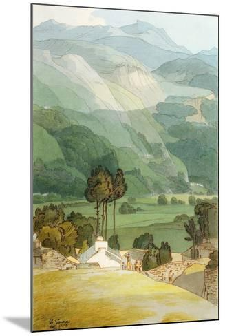 Ambleside, 1786 (W/C with Pen and Ink over Graphite on Laid Paper)-Francis Towne-Mounted Giclee Print