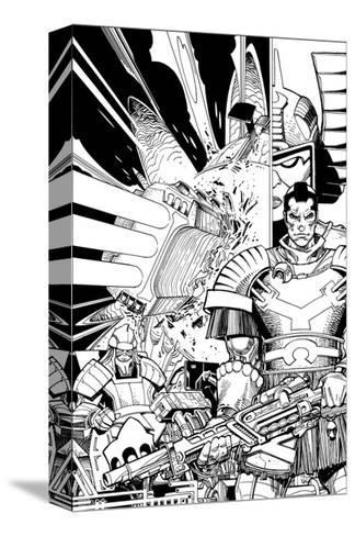 Star Slammers No. 2 Cover - Inks-Walter Simonson-Stretched Canvas Print