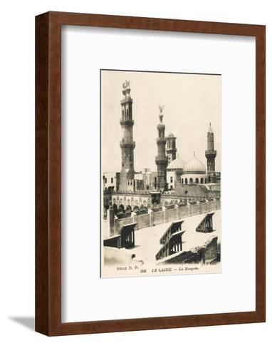 Al-Azhar University and Mosque, Cairo, Egypt--Framed Art Print