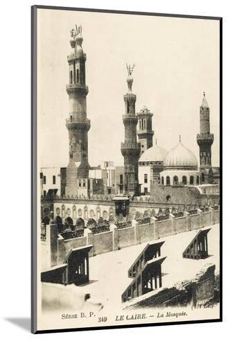Al-Azhar University and Mosque, Cairo, Egypt--Mounted Photographic Print