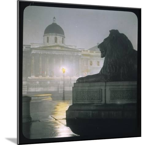Early Morning in Trafalgar Square--Mounted Photographic Print