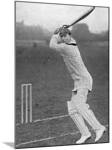 J.B. Hobbs Batting, 1924--Mounted Photographic Print