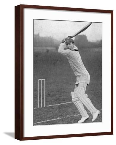 J.B. Hobbs Batting, 1924--Framed Art Print