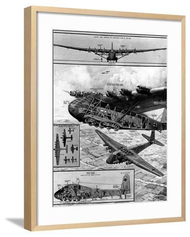 Me.323 'Gigant' Transport Glider; Second World War, 1944--Framed Art Print