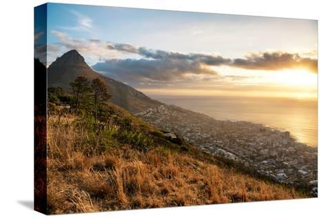 Awesome South Africa Collection - Sunset Cape Town-Philippe Hugonnard-Stretched Canvas Print