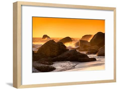 Awesome South Africa Collection - Sunset on Sea Stacks-Philippe Hugonnard-Framed Art Print