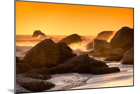 Awesome South Africa Collection - Sunset on Sea Stacks-Philippe Hugonnard-Mounted Photographic Print