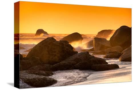 Awesome South Africa Collection - Sunset on Sea Stacks-Philippe Hugonnard-Stretched Canvas Print