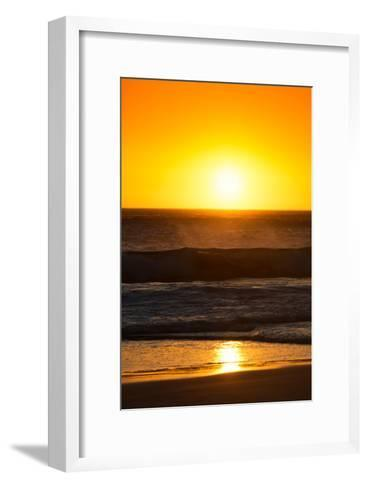 Awesome South Africa Collection - Sunset Blazing Sun over the Ocean I-Philippe Hugonnard-Framed Art Print