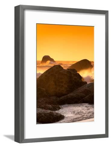 Awesome South Africa Collection - Sunset on Sea Stacks I-Philippe Hugonnard-Framed Art Print