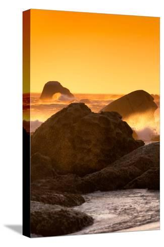 Awesome South Africa Collection - Sunset on Sea Stacks I-Philippe Hugonnard-Stretched Canvas Print