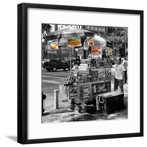 Safari CityPop Collection - NYC Hot Dog with Zebra Man II-Philippe Hugonnard-Framed Art Print