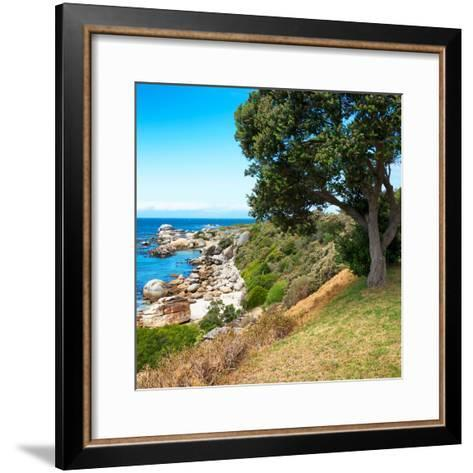 Awesome South Africa Collection Square - Natural Boulders Beach-Philippe Hugonnard-Framed Art Print