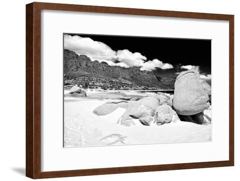 Awesome South Africa Collection B&W - The Twelve Apostles - Camps Bay-Philippe Hugonnard-Framed Art Print