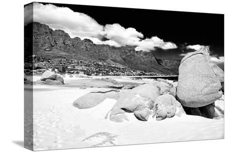 Awesome South Africa Collection B&W - The Twelve Apostles - Camps Bay-Philippe Hugonnard-Stretched Canvas Print