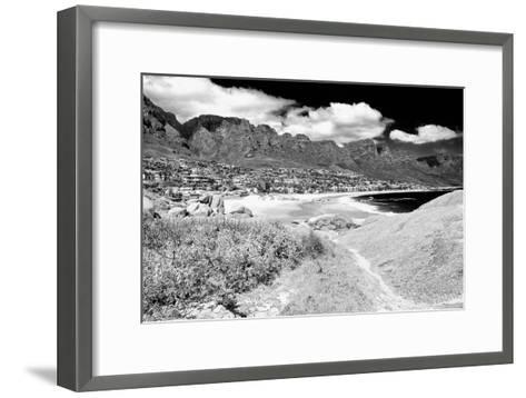 Awesome South Africa Collection B&W - The Twelve Apostles - Camps Bay II-Philippe Hugonnard-Framed Art Print