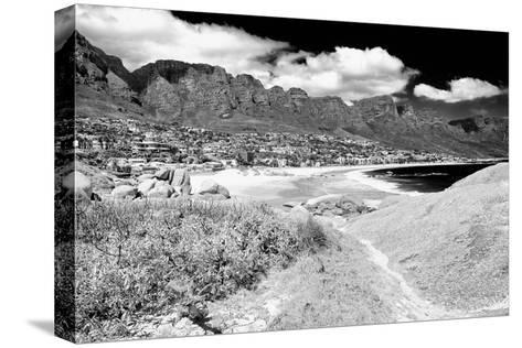 Awesome South Africa Collection B&W - The Twelve Apostles - Camps Bay II-Philippe Hugonnard-Stretched Canvas Print