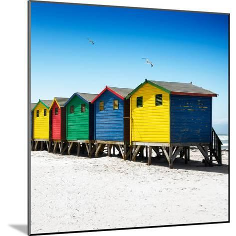 Awesome South Africa Collection Square - Colorful Beach Huts at Muizenberg - Cape Town VI-Philippe Hugonnard-Mounted Photographic Print