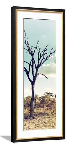 Awesome South Africa Collection Panoramic - Dead Tree in the Savannah II-Philippe Hugonnard-Framed Art Print