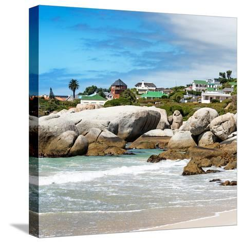 Awesome South Africa Collection Square - Landscape of Boulders Beach - Cape Town-Philippe Hugonnard-Stretched Canvas Print