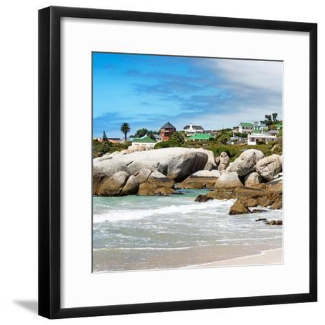 Awesome South Africa Collection Square - Landscape of Boulders Beach - Cape Town-Philippe Hugonnard-Framed Art Print