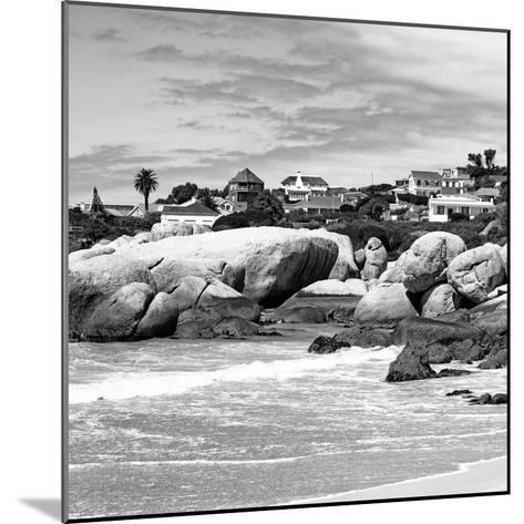 Awesome South Africa Collection Square - Landscape of Boulders Beach - Cape Town B&W-Philippe Hugonnard-Mounted Photographic Print